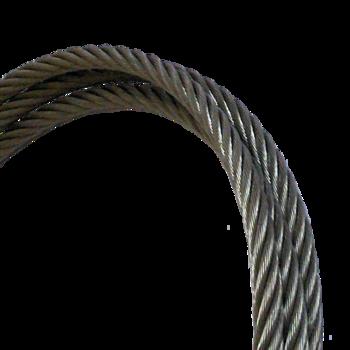 Rozsdamentes kötél 6 mm, 8 mm